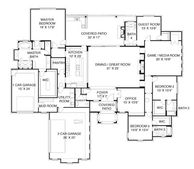 bird view of floor plan